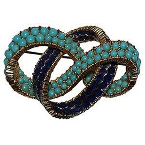 Ciner Enamel & Turquoise Pin